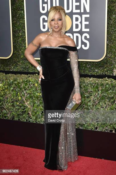 Mary J Blige attends the 75th Annual Golden Globe Awards Arrivals at The Beverly Hilton Hotel on January 7 2018 in Beverly Hills California
