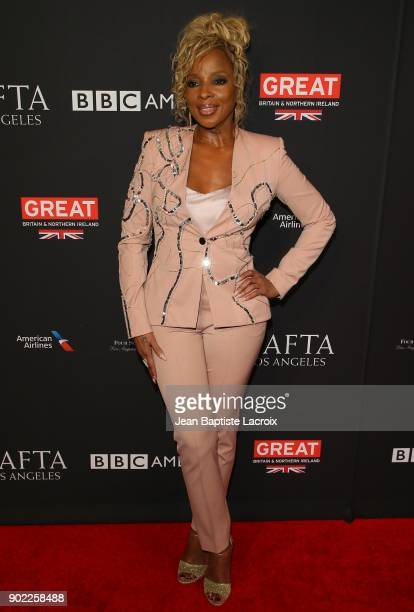 Mary J Blige attends The BAFTA Los Angeles Tea Party at Four Seasons Hotel Los Angeles at Beverly Hills on January 6 2018 in Los Angeles California