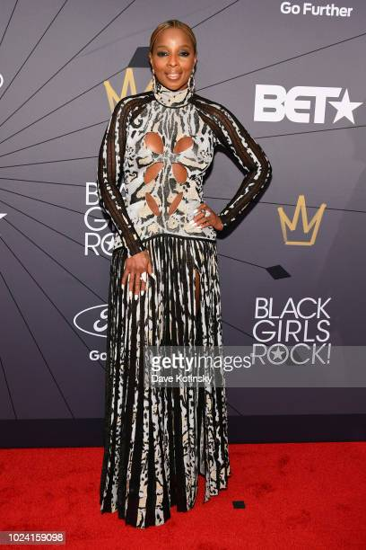 Mary J Blige attends the Black Girls Rock 2018 Red Carpet at NJPAC on August 26 2018 in Newark New Jersey