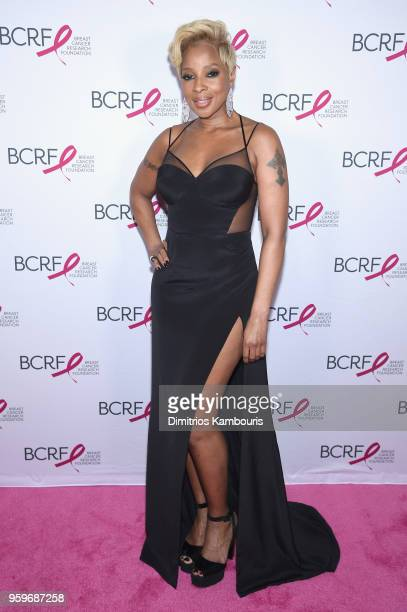 Mary J Blige attends the Breast Cancer Research Foundation Hot Pink Gala hosted by Elizabeth Hurley at Park Avenue Armory on May 17 2018 in New York...