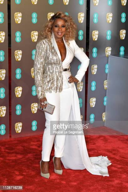 Mary J Blige attends the EE British Academy Film Awards at Royal Albert Hall on February 10 2019 in London England