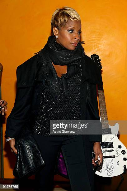 Mary J Blige attends The Fourth Annual Black Girls Rock at The New York Times Center on October 17 2009 in New York New York