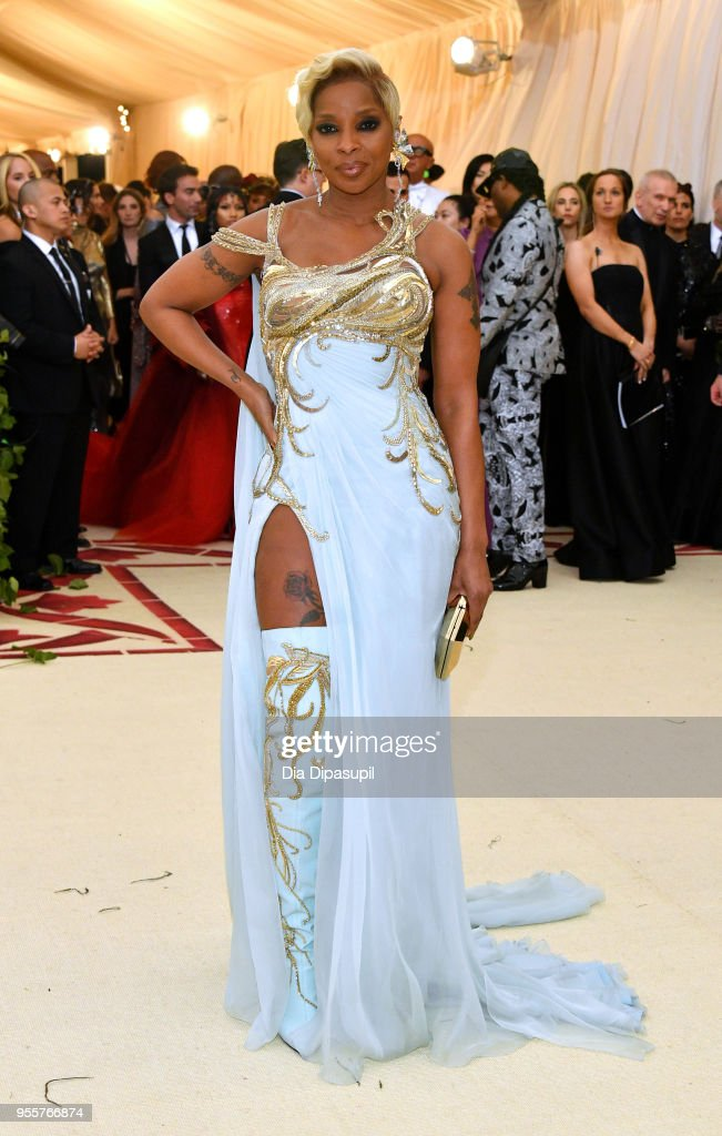 Mary J. Blige attends the Heavenly Bodies: Fashion & The Catholic Imagination Costume Institute Gala at The Metropolitan Museum of Art on May 7, 2018 in New York City.