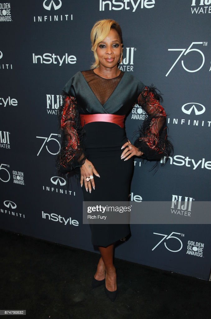 Mary J. Blige attends the Hollywood Foreign Press Association and InStyle celebrate the 75th Anniversary of The Golden Globe Awards at Catch LA on November 15, 2017 in West Hollywood, California.