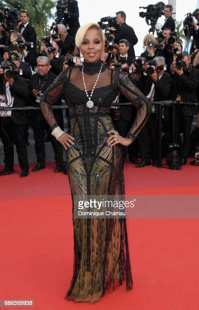 Mary J Blige attends 'The Meyerowitz Stories' premiere during the 70th annual Cannes Film Festival at Palais des Festivals on May 21 2017 in Cannes...