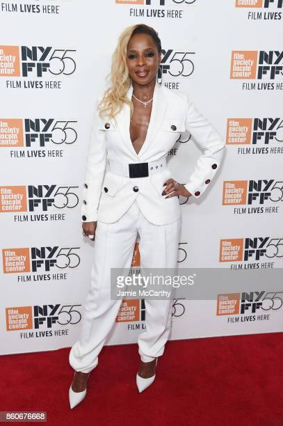 Mary J Blige attends the 'Mudbound' premiere during the 55th New York Film Festival at Alice Tully Hall on October 12 2017 in New York City