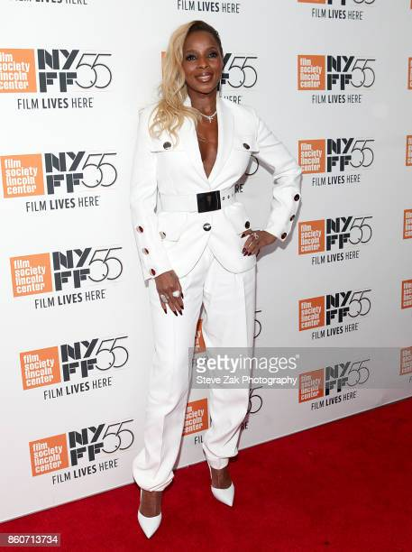 Mary J Blige attends the Mudbound' screening during the 55th New York Film Festival at Alice Tully Hall on October 12 2017 in New York City