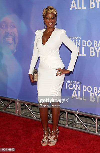 Mary J Blige attends the New York premiere of Tyler Perry's I Can Do Bad All By Myself at the School of Visual Arts Theater on September 8 2009 in...