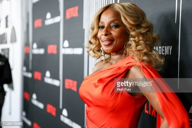 Mary J Blige attends the premiere of Netflix's The Umbrella Academy at ArcLight Hollywood on February 12 2019 in Hollywood California