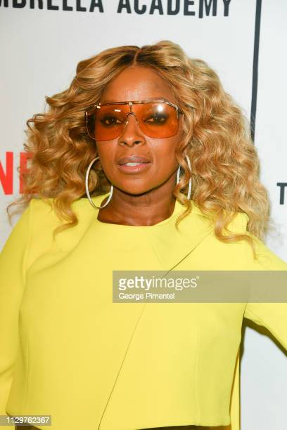 Mary J Blige attends the premiere of Netflix's 'The Umbrella Academy' at TIFF Bell Lightbox on February 14 2019 in Toronto Canada