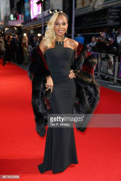 Mary J Blige attends the Royal Bank of Canada Gala European Premiere of Mudbound during the 61st BFI London Film Festival on October 5 2017 in London...