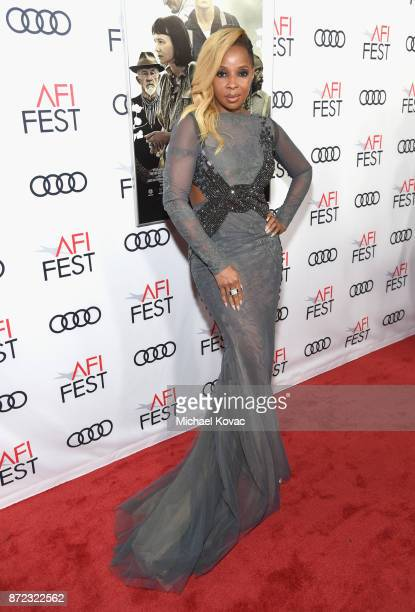 Mary J Blige attends the screening of Netflix's 'Mudbound' at the Opening Night Gala of AFI FEST 2017 Presented By Audi at TCL Chinese Theatre on...