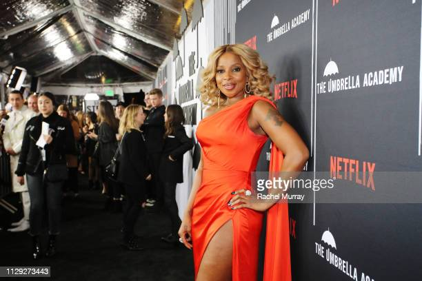 Mary J Blige attends The Umbrella Academy Premiere at Cinerama Dome on February 12 2019 in Hollywood California
