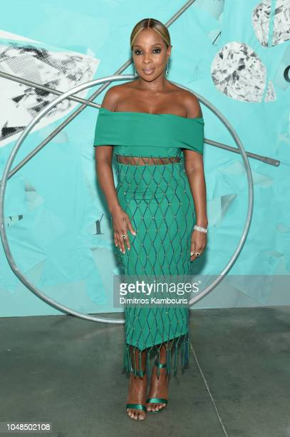 Mary J Blige attends Tiffany Co Celebrates 2018 Tiffany Blue Book Collection THE FOUR SEASONS OF TIFFANY at Studio 525 on October 9 2018 in New York...