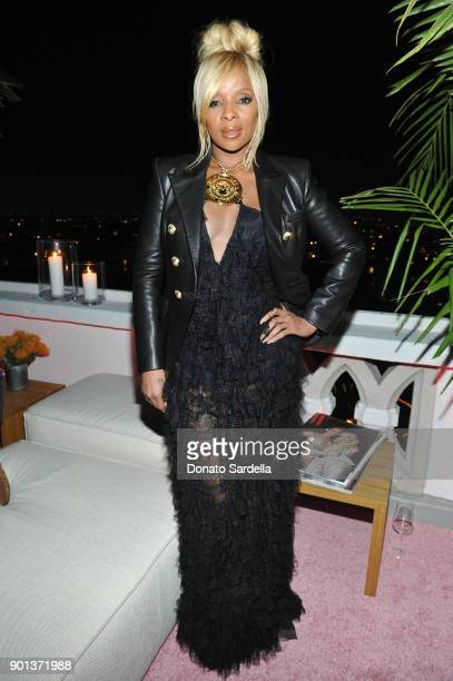 Mary J Blige attends W Magazine's Celebration of its 'Best Performances' Portfolio and the Golden Globes with Audi Dior and Dom Perignon at Chateau...
