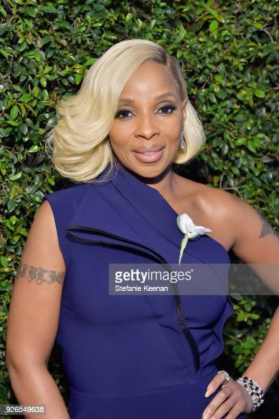 Mary J Blige attends Women In Film PreOscar Cocktail Party presented by Max Mara and Lancome with additional support from Crustacean Beverly Hills...