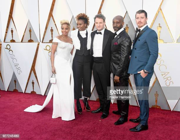 Mary J Blige Dee Rees Jason Clarke Rob Morgan and Garrett Hedlund attend the 90th Annual Academy Awards at Hollywood Highland Center on March 4 2018...