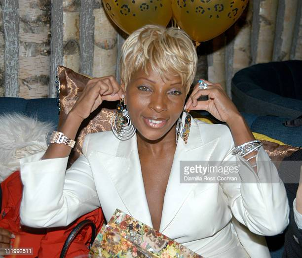 Mary J Blige during Mary J Blige's Birthday Party at Butter in New York City New York United States