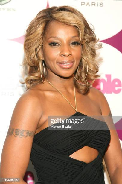 Mary J Blige during People Magazine Post GRAMMY Party Hosted by Beyonce at ELEVEN Restaurant and Nightclub in West Hollywood California United States