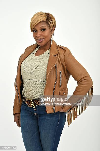Mary J Blige from 'The London Sessions' appears at the 2015 Tribeca Film Festival Getty Images studio on April 17 2015 in New York City