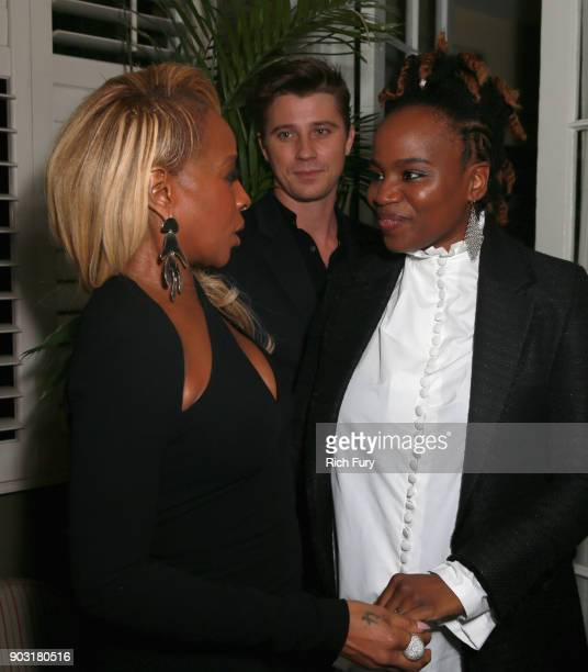 Mary J Blige Garrett Hedlund and Dee Rees attend a Special Screening of MUDBOUND hosted by Sandra Bullock Trevante Rhodes at Chateau Marmont on...
