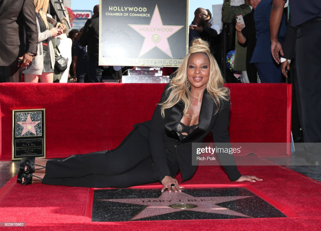 Mary J. Blige is honored with a Star on The Hollywood Walk of Fame on January 11, 2018 in Hollywood, California.