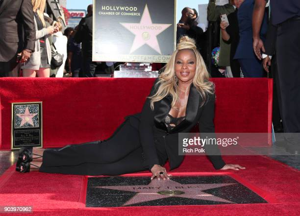 Mary J Blige is honored with a Star on The Hollywood Walk of Fame on January 11 2018 in Hollywood California