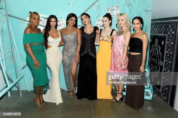 Mary J Blige Kim Kardashian West Priyanka Chopra Rowan Blanchard Rachel Brosnahan Bria Vinaite and Zoe Kravitz attend Tiffany Co Celebrates 2018...