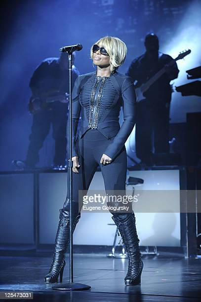 Mary J Blige perfoms at Radio City Music Hall on October 12 2010 in New York New York