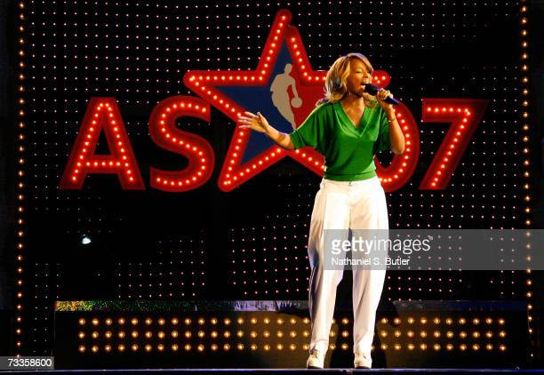 Mary J Blige Performs at NBA All-Star Saturday Night during NBA All-Star Weekend on February 17, 2007 at the Thomas & Mack Center in Las Vegas,...