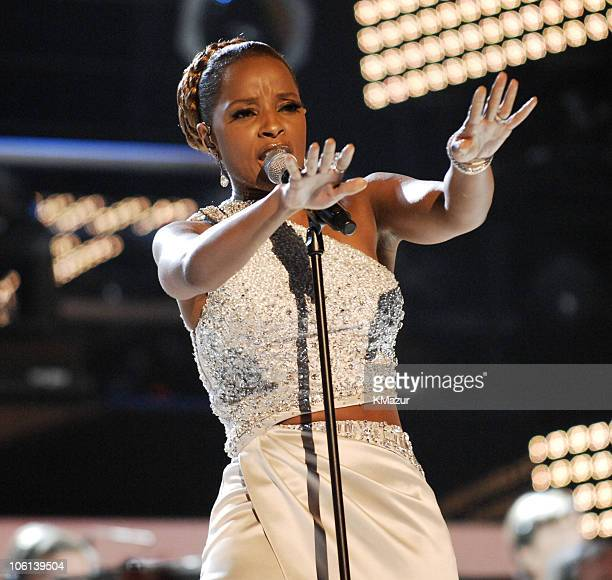 """Mary J. Blige performs """"Be Without You"""" during The 49th Annual GRAMMY Awards - Show at Staples Center in Los Angeles, California, United States."""