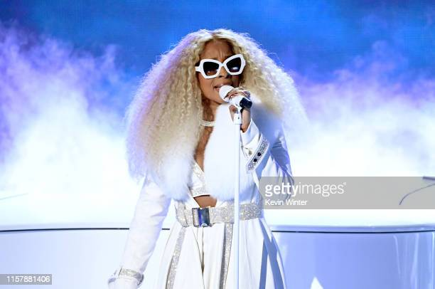 Mary J. Blige performs onstage at the 2019 BET Awards on June 23, 2019 in Los Angeles, California.