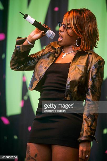 Mary J Blige performs onstage at the KMEL Jam at Shoreline Amphitheater in Mountain View California United States on 29th August 1998