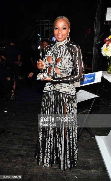 Mary J Blige poses backstage during Black Girls Rock 2018 at NJPAC on August 26 2018 in Newark New Jersey