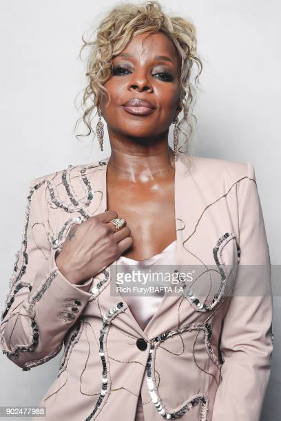 Mary J Blige poses for a portrait at the BAFTA Los Angeles Tea Party on January 6 2018 in Beverly Hills California