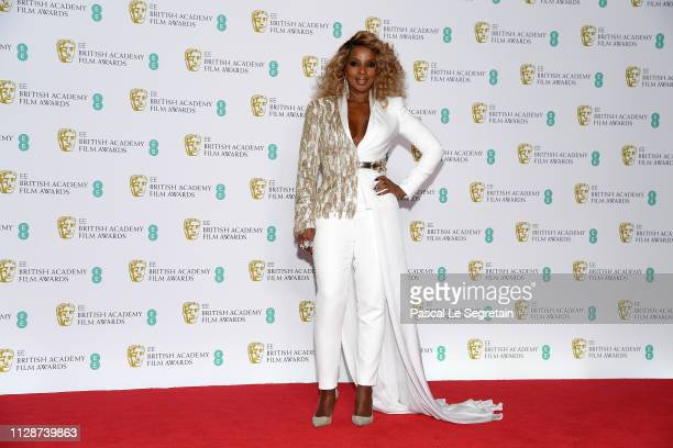 Mary J Blige poses in the press room during the EE British Academy Film Awards at Royal Albert Hall on February 10 2019 in London England