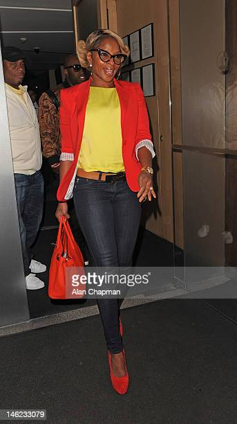 Mary J Blige sighting on June 12, 2012 in London, England.