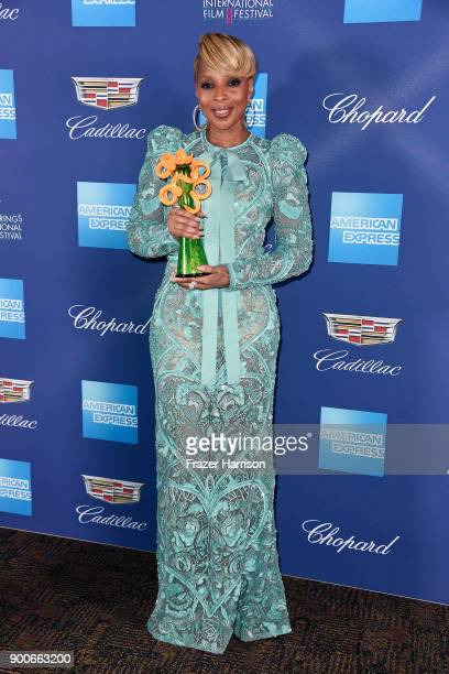 Mary J Blige winner of the Breakthrough Performance Award attends the 29th Annual Palm Springs International Film Festival Awards Gala at Palm...