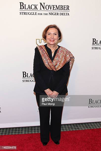 Mary Jane Deeb Chief African and Middle East Division Library of Congress attends the 'Black November' film screening at The Library of Congress on...