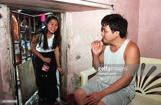 Mary Jane Palima and her boyfriend Anthony Chiu in their VIP cell at the Sputnik gang barrack at the Manila City Jail. Sputnik is one of 4 major...