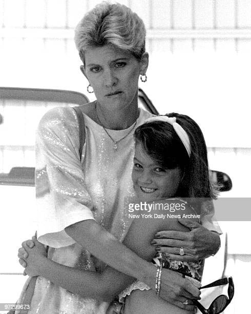 Mary Jo Buttafuoco and daughter Jessica outside their home