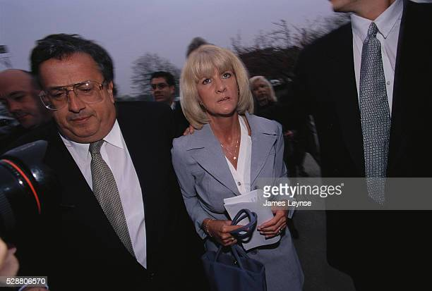 Mary Jo Buttafuoco appears outside of a Nassau County courtroom during Amy Fisher's 1999 parole hearing Fisher was released after serving seven years...