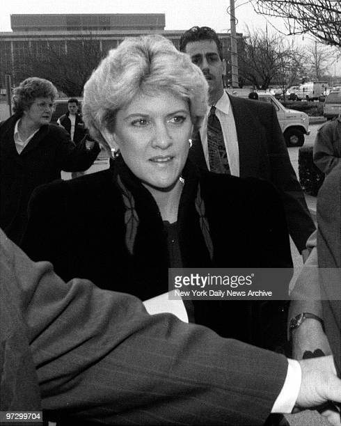 Mary Jo Buttafuoco as she arrives at Nassau County Mineola Court for Amy Fisher's sentencing
