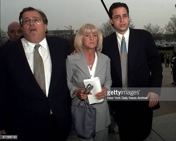 Mary Jo Buttafuoco leaves Nassau County Court She appeared at a hearing for a reduced sentence for Amy Fisher who shot her in 1992