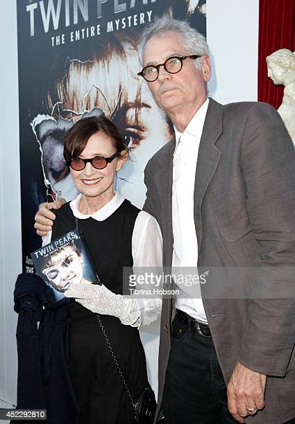 Mary Jo Deschanel and Caleb Deschanel attend the 'Twin Peaks' BluRay/DVD release party and screening at the Vista Theatre on July 16 2014 in Los...