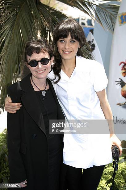 Mary Jo Deschanel and Zooey Deschanel during The Premiere of Columbia Pictures and Sony Pictures Animation's SURF'S UP at Mann Village Theatre in...