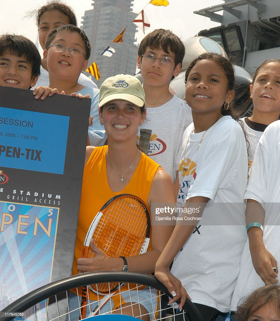 Monica Seles and Mary Joe Fernandez Join NYC Kids for the Debut of Blue Tennis