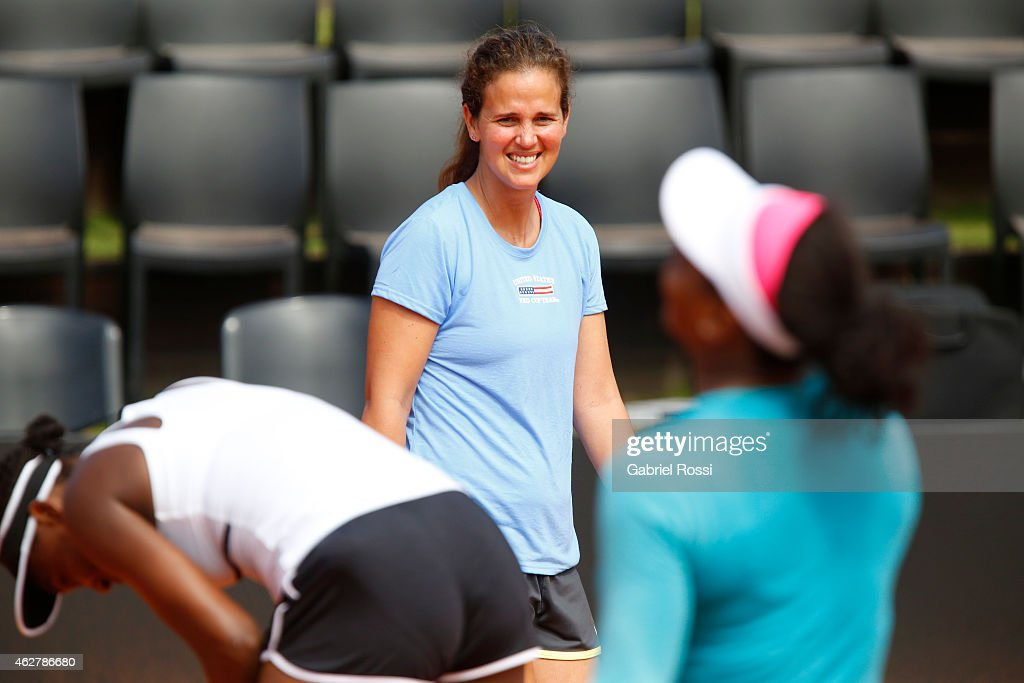 USA Training Session & Press Conference - Fed Cup 2015- Fed Cup 2015