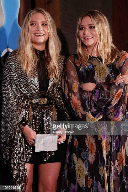 Mary Kate Olsen and Ashley Olsen attend the 32nd Annual AAFA American Image Awards at the Grand Hyatt Hotel on May 26 2010 in New York City