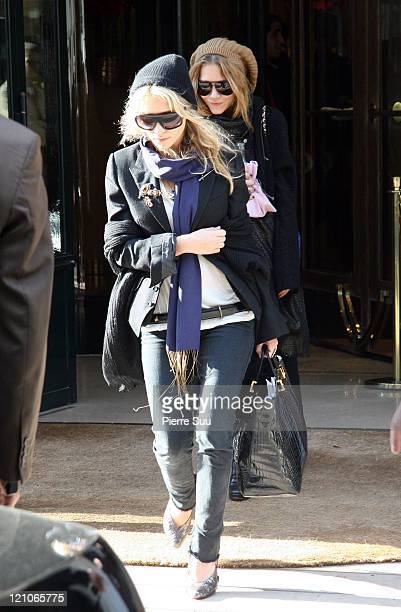 Mary Kate Olsen and Ashley Olsen during Mary Kate and Ashley Olsen Sighting in Paris October 4 2006 at Paris in Paris France